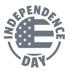 independence day logo simple style vector image