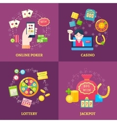 Lottery Icons Square Composition vector image