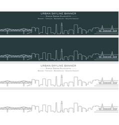 Louisville single line skyline banner vector