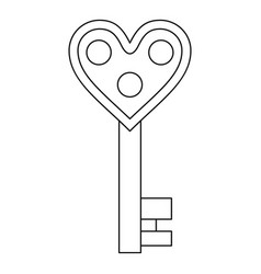 love key icon outline style vector image