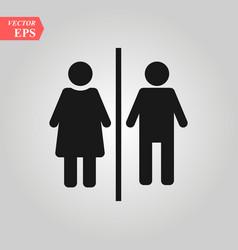 manwoman toilet icon sex gendergirlboy vector image