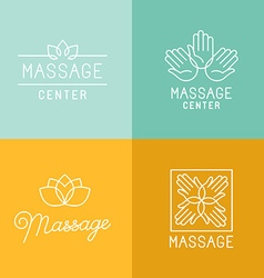 Massage logos vector