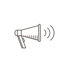Megaphone Icon in line style Isolated bullhorn vector