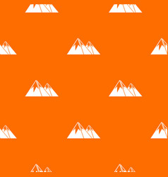 Mountains with snow pattern seamless vector