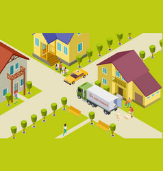 Moving isometric neighborhood vector