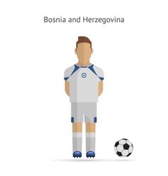 National football player Bosnia and Herzegovina vector