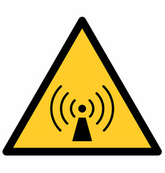 non-ionizing radiation sign vector image