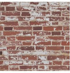 old red brick wall vector image