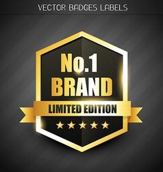 original brand label vector image