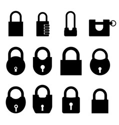 padlock set on a white vector image