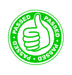 Passed thumbs up stamp vector