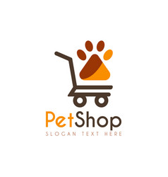 pet shop logo icon symbols and app icon vector image