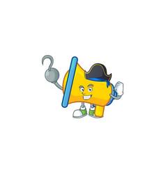 Pirate yellow loudspeaker cartoon character for vector