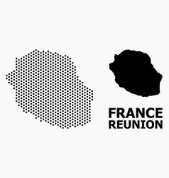 Pixelated pattern map reunion island vector