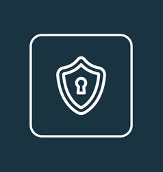 privacy icon line symbol premium quality isolated vector image