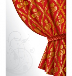 red drape vector image vector image