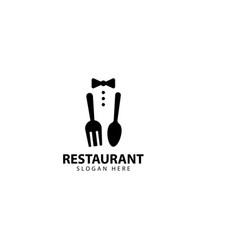 Restaurant template logo design icon vector