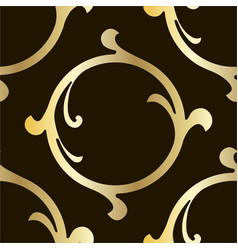 retro pattern antique acanthus seamless pattern vector image
