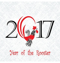 Rooster bird concept chinese new year the vector