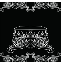 Royal Baroque Classic chair vector