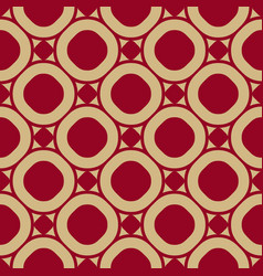 seamless pattern in red and gold colors vector image