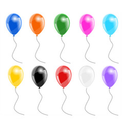 set color balloons vector image