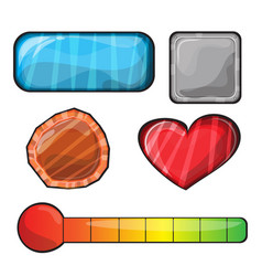 set of buttons bright different forms buttons for vector image