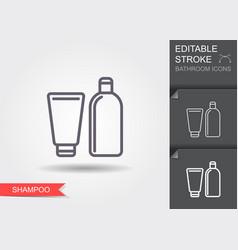 shampoo line icon with editable stroke vector image