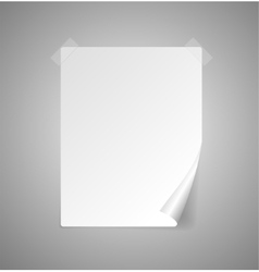 sheet of paper isolated on gray vector image