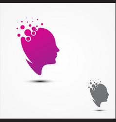 simple head human smart pixel design in flat style vector image