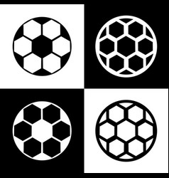 soccer ball sign black and white icons vector image vector image