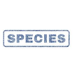 Species textile stamp vector