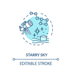 starry sky turquoise concept icon vector image