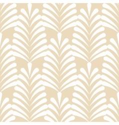 Stylized white on beige leaf pattern vector