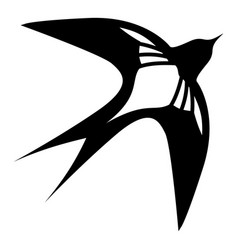 Swallow icon simple black style vector