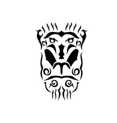 Tribal mandrill vector