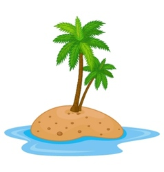 Tropical island cartoon vector image