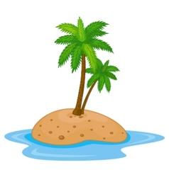 Tropical island cartoon vector image