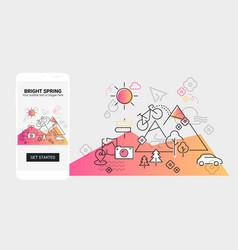 weather line splash app screen mobile vector image
