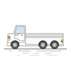 white delivery van on white background vector image