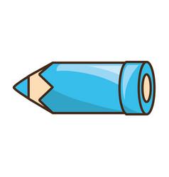Wooden pencil utensil vector