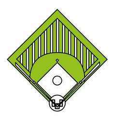 Baseball field design vector