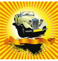 car club poster vector image vector image
