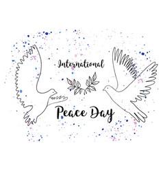 holiday greetings international peace vector image