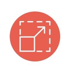 Responsive design thin line icon vector image vector image
