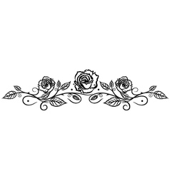 Rose leaves flower vector image vector image