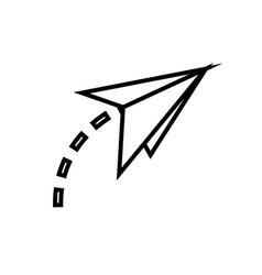 paper plane fly creativity imagination symbol vector image