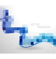 Abstract geometric background with mosaic vector image vector image