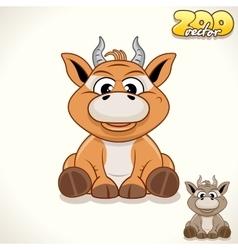 Cartoon Antelope Character vector image vector image