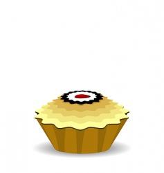 cute cupcake vector image